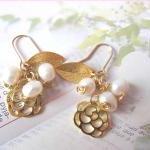 O' My Pearly Garden Earrings - 14K ..